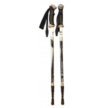 ERBO ADVENTURE AS BLACK - kije trekkingowe R. 105-135 cm <is>